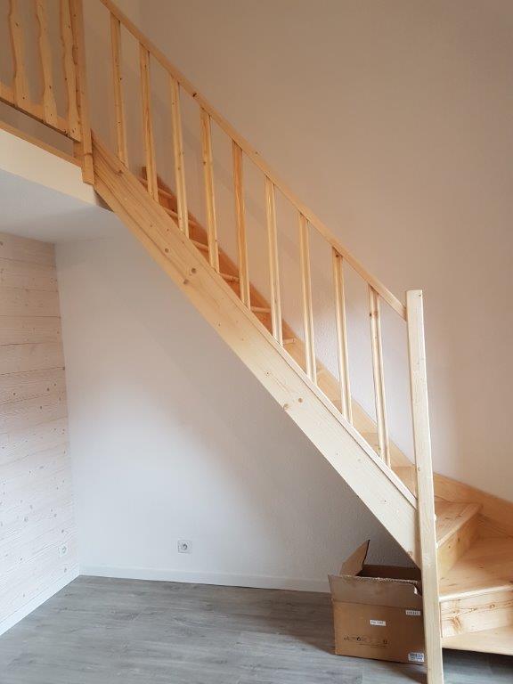 Comble aménagé : avec mezzanine et mise en place d'un escalier
