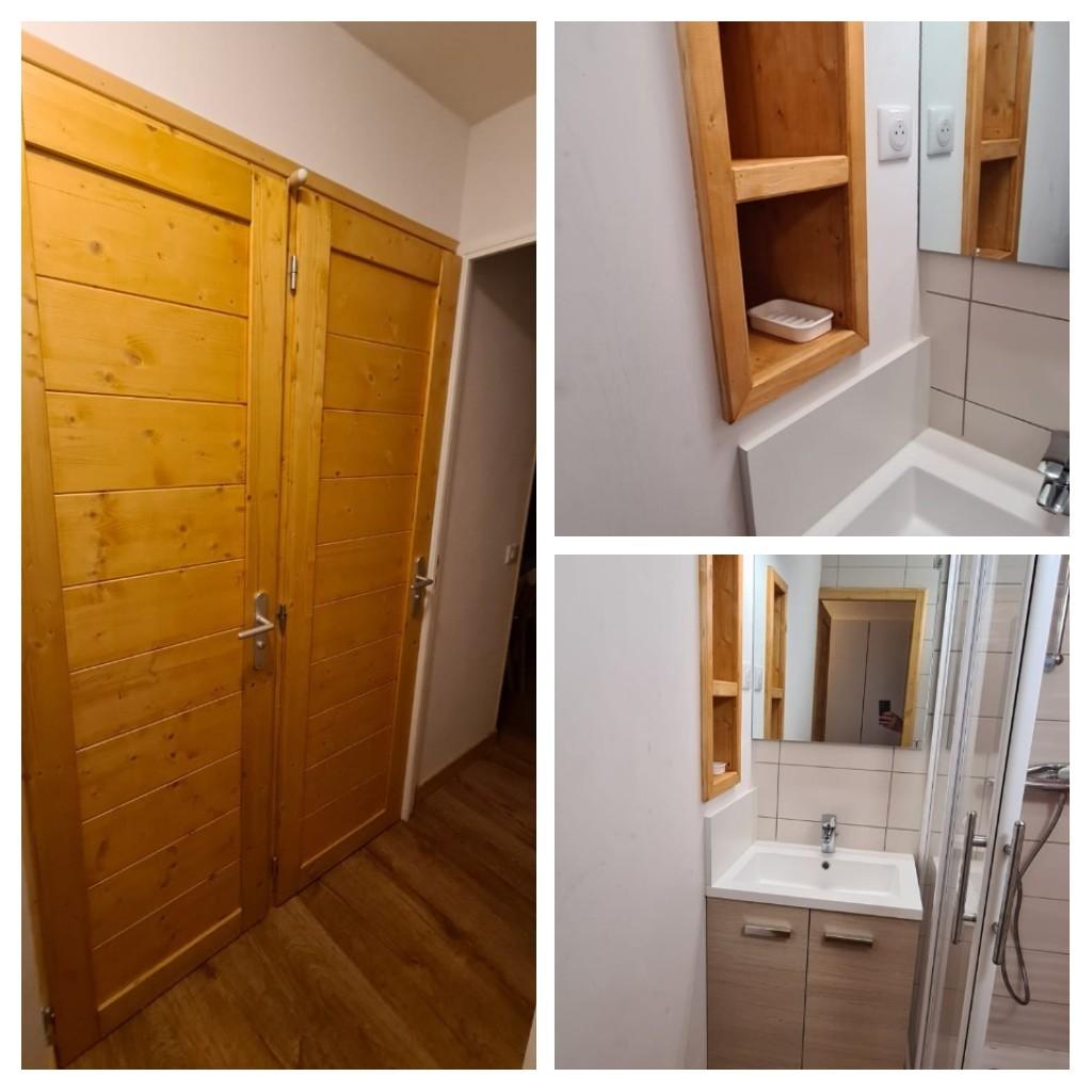 Séparation de l'espace WC dans une salle de bains et création salle d'eau
