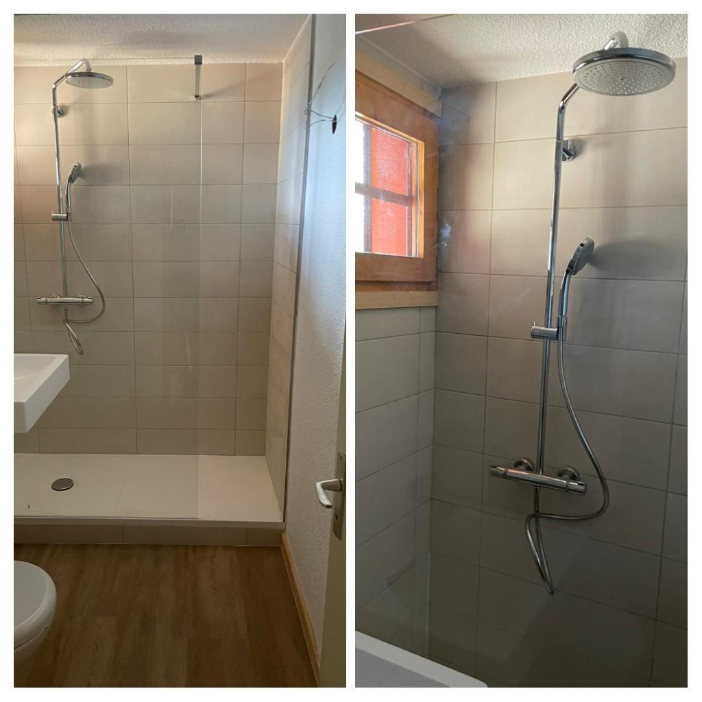 Création salle d'eau avec douche
