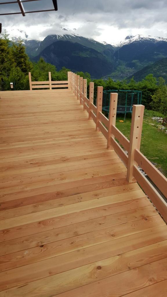 Terrasse bois et rambarde