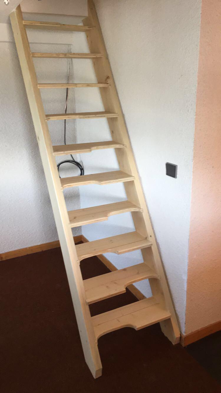 Escalier marches décalées