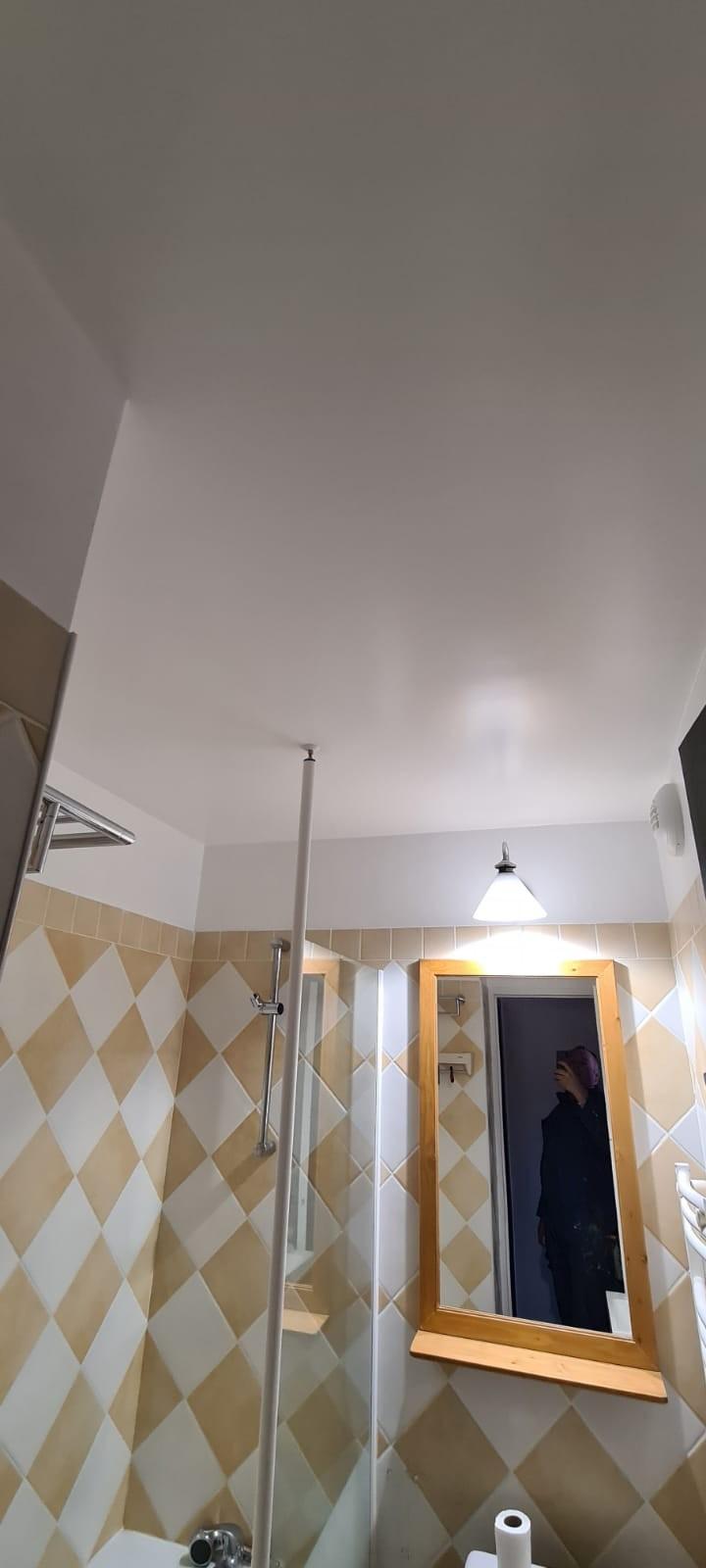 Salle de bains repeinte