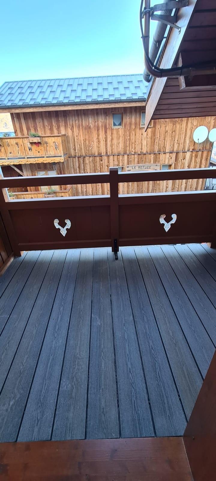 Réfection d'un balcon-terrasse avec lames composites