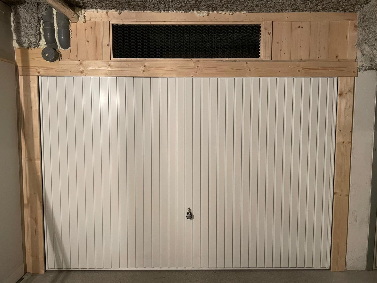 Installation porte garage